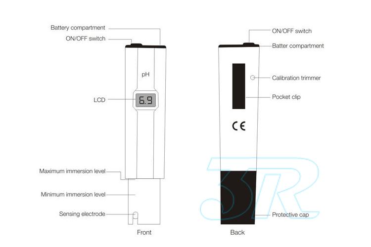 digital ph meter hydroponics pool spa aquarium liquid