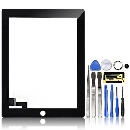 Premium-Digitizer-Replacement-Front-Glass-Touch-Screen-Lens-for-iPad-2-Black