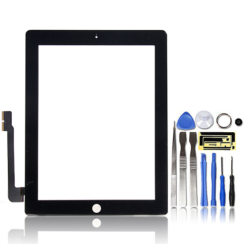 Premium-Digitizer-Replacement-Front-Glass-Touch-Screen-Lens-for-iPad-3-4-Black