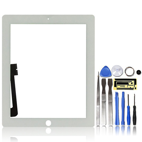 Premium-Digitizer-Replacement-Front-Glass-Touch-Screen-Lens-for-iPad-3-4-White